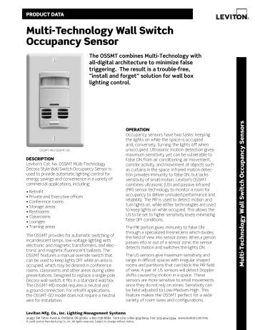 Multi-Technology Ceiling Mounted Occupancy Sensor
