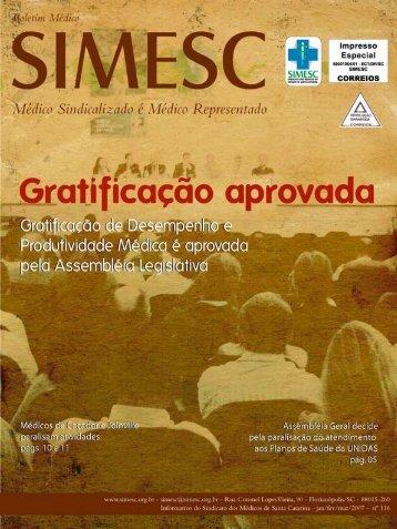 Boletim Médico SIMESC - Sindicato dos Médicos do Estado de ...