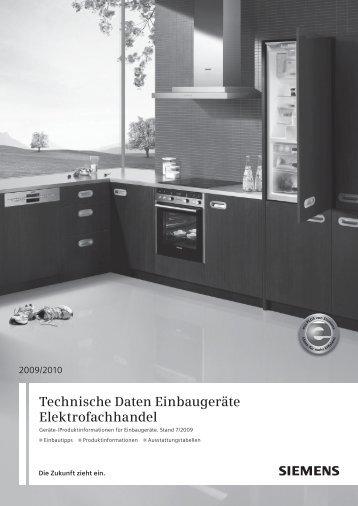 Technische Daten Küchenmodernisierung - Siemens | {Küchenmodernisierung 44}