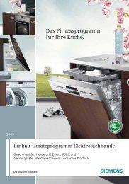 Einbau-Geschirrspüler - Siemens Home Appliances
