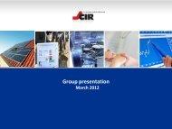 Group presentation - CIR Compagnie Industriali Riunite