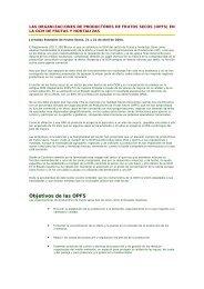 Objetivos de las OPFS - Coag