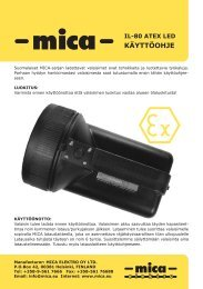 IL-80 ATEX LED - Mica Elektro OY Ltd