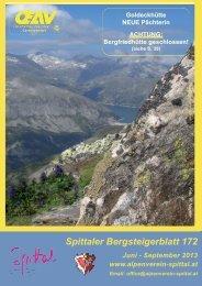 spittaler bergsteigerblatt 172 - Alpenverein Spittal/Drau