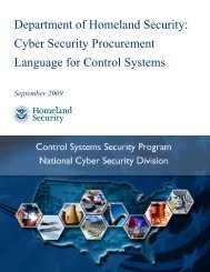 DHS Cyber Security Procurement Language for Control ... - ICS-CERT