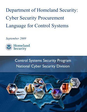 DHS Cyber Security Procurement Language for Control ... - ICS-CERT