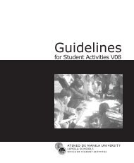 Guidelines for Student Activities, 2008 Edition - Ateneo de Manila ...