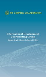 IDCG Brochure - The Campbell Collaboration