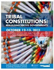 tRibal Constitutions: - Native Nations Institute - University of Arizona