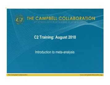 C2 training materials on combining effect sizes - The Campbell ...
