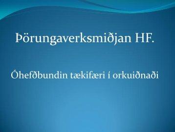 Þörungaverksmiðjan og óhefðbundin tækifæri í orkuiðnaði - Georg