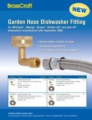 Garden Hose Dishwasher Fitting Garden Hose ... - Masco Canada