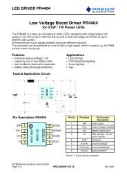 led driver pr4404 - Channel Microelectronic GmbH