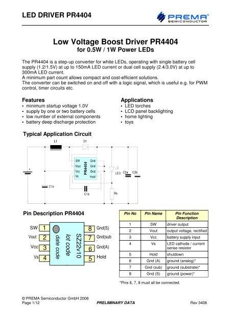 Minimum Gmbh led driver pr4404 - channel microelectronic gmbh
