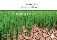 FiNAl REPORt - Global Food Security Forum