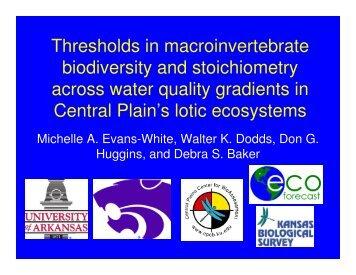 Thresholds in macroinvertebrate biodiversity and stoichiometry ...