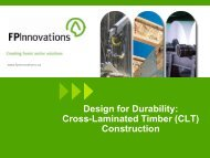 Design for Durability: Cross-Laminated Timber (CLT) Construction