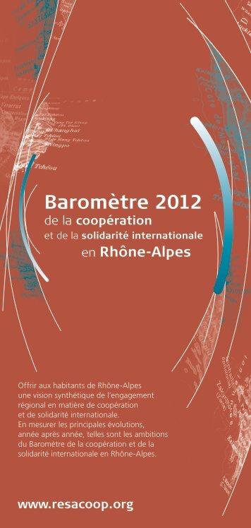 Baromètre 2012 - Resacoop