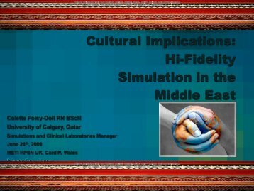 Cultural Adaptations in the Use of Hi-Fidelity Simulation in the ...