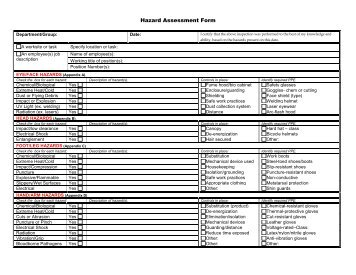 Attachment 1 - PPE Hazard Assessment Certification Form - OFEO