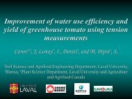 Improvement of water use efficiency and yield of greenhouse tomato ...