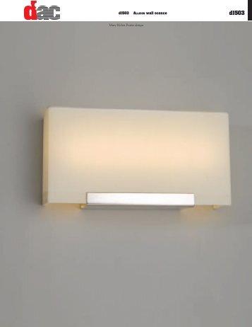 d1503 ALLISON wall sconce Mary Helen Pratte design - d'ac Lighting