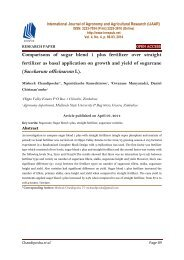 Comparisons of sugar blend 1 plus fertilizer over straight fertilizer as basal application on growth and yield of sugarcane (Saccharum officinarum L).