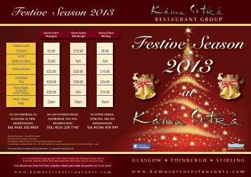 KS 4pp Festive 2013.indd - Kama Sutra Restaurant Group