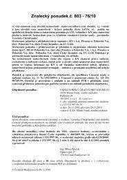 271037-posudek, 125 ex 987-09.pdf - Exekutorský úřad Český ...