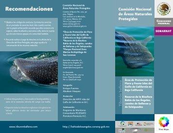 Recomendaciones - área de protección de flora y fauna islas del ...