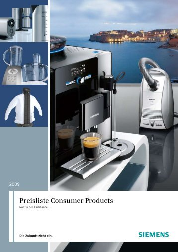 Preisliste Consumer Products - Siemens Home Appliances