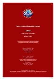 Katalog für Kategorie: Lowlands - und Getränke-Welt Weiser