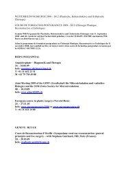 COURS DE FORMATION POSTGRADUEE 2009 - 2 - sgprac/sscpre