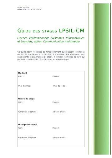 LPSIL-CM - IUT Bayonne