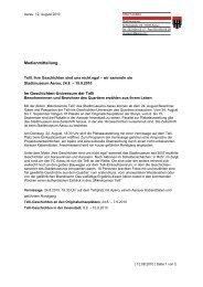 Medientext Telli-Geschichten - Stadtmuseum Schlössli Aarau