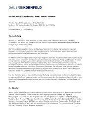 Download Presseinformation - Galerie Kornfeld
