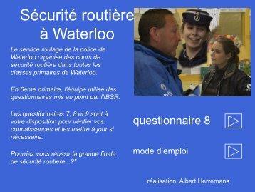( 6ème primaire)- Questionnaire 8.pdf - Waterloo