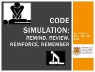 CODE SIMULATION: - Human Patient Simulation Network