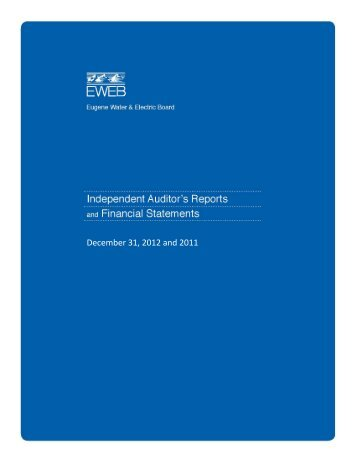 2012 Financial Report - Eugene Water & Electric Board