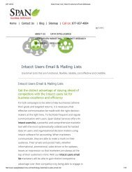 Get Customized Intacct Customer Lists from Span Global Services