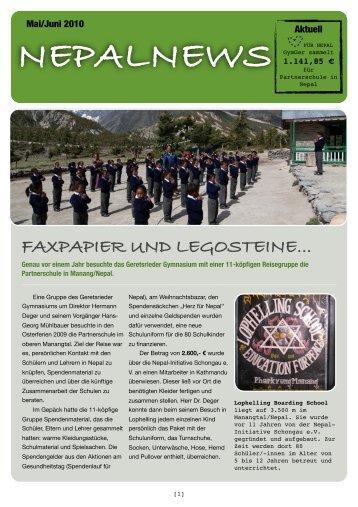 Ausgabe 1 / Mai-Juni 2010 - Gymnasium Geretsried