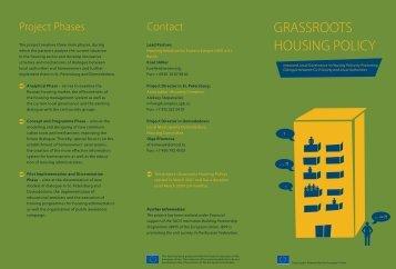 grassroots housing policy - Initiative Wohnungswirtschaft Osteuropa ...