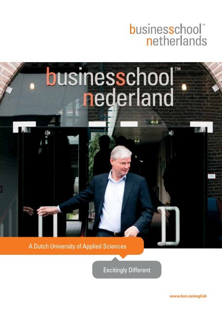 Business School Netherlands Brochure