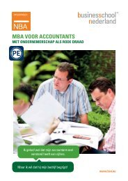 MBA VOOR ACCOUNTANTS - Business School Netherlands