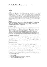 Module Marketing Management