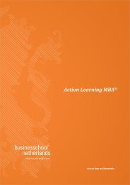 Action Learning MBA® - Business School Netherlands
