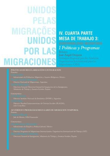 unidos por las migraciones - Regional Conference on Migration ...