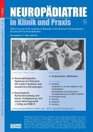 #6667_Neuropädiatrie 01-2012.indd - Neuropädiatrie in Klinik und ...