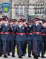 Annual Performance Report 2010 - Peel Regional Police