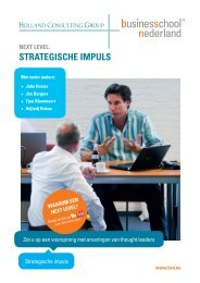 Next level: strategische impuls - Business School Netherlands